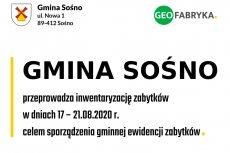 Inwentaryzacja zabytków na terenie Gminy Sośno