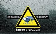 Ostrzeżenie meteorologiczne Nr 36/2020 - Burze z gradem